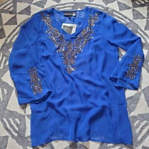 Antthony Design HSN jeweled sheer tunic
